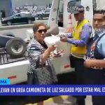 Lima: Llevan al depósito camioneta de excongresista Luz Salgado