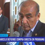 Marcelo defiende compra directa en programa Vaso de Leche