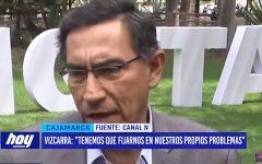 """Martín Vizcarra: """"Tenemos que fijarnos en nuestros propios problemas"""""""