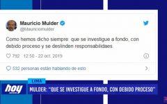 "Mulder: ""Que se investigue a fondo, con debido proceso"""
