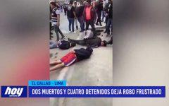 Lima: Dos muertos y cuatro detenidos deja robo frustrado