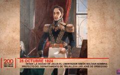 Simón Bolívar nombra prefecto del departamento de Trujillo a Luis José de Orbegozo.