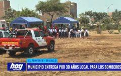 Municipio entrega por 30 años local para los Bomberos