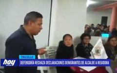 Defensoría rechaza declaraciones denigrantes de alcalde a regidora