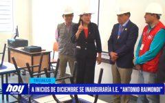 """A inicios de diciembre se inaugura I.E. """"Antonio Raimondi"""""""