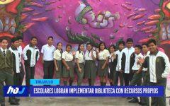 Escolares logran implementar biblioteca con recursos propios