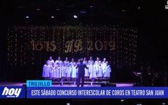 Este sábado concurso interescolar de coros en teatro san juan