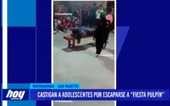 """Castigan a adolescentes por escaparse a """"Fiesta Pulpín"""""""