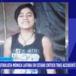 Futbolista Mónica Lafora en estado crítico tras accidente en Otuzco
