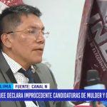 APRA: JEE declara improcedente candidatos de Mulder y Garrido Lecca
