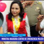 Ministra inaugura centro de emergencia mujer en comisaría