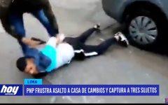 Policía Nacional frustra asalto a casa de cambios y captura a tres sujetos