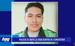 Policía se quita la vida dentro de cementerio