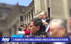 El presidente del Poder Judicial respaldó el paro de los sindicalistas de su sector