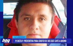 Poder Judicial dicta prisión preventiva para chofer de bus que cayó a abismo en Otuzco