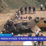 Tragedia en Otuzco: 19 muertos tras caída de bus a un abismo
