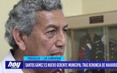 Santos Gámez es nuevo gerente municipal tras renuncia de Navarro