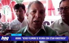 """Lima: """"Keiko Fujimori se reunía con César Hinostroza"""""""