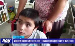 Niño con diabetes mellitus tipo 1 logra recuperarse tras 10 días en UCI