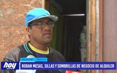 Salaverry: Le roban mesas, sillas y sombrillas que iba a alquilar a veraneantes