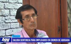 Caso abogada: Padre saluda sentencia para implicados en crimen de abogada