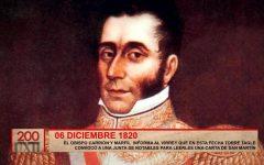 Torre Tagle convocó a junta para leer carta de San Martín